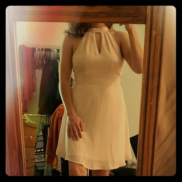 Express Dresses & Skirts - Baby pink polka-dot dress